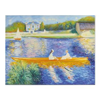 """Zhong Lirong malt Renoir – La Yole Renoirs """"La Yole"""": Die perfekte Kunstkopie – 100 % von Hand in Öl gemalt. Maße: 92 x 71 cm"""