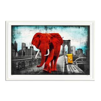 Lars Tunebo – Tripping on Brooklyn Bridge Lars Tunebos handkolorierte Unikatserie. Neueste Edition exklusiv bei Pro-Idee. 40 Exemplare. Maße: gerahmt 90 x 60 cm