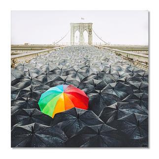 Robert Jahns – Rainbow Umbrella Robert Jahns:Einer der populärsten Instagram-Stars. 40.000 Likes! Rainbow Umbrella – jetzt als Leinwand-Edition. Exklusiv bei Pro-Idee. Maße: 100 x 100 cm