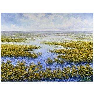 Pei Lian Zhi – Original serenity Pei Lian Zhi: In mehr als 200 Sammlungen vertreten.  Jetzt auch in Ihrer?  Einzigartiges Ölgemälde mit bis zu 1 cm hohem Farbauftrag. Maße: 120 x 90 cm