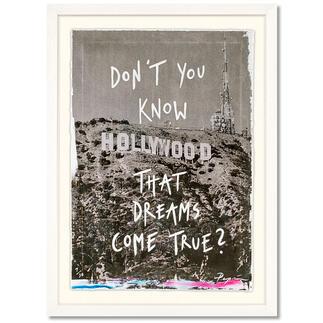 Pepi Erdbories – Hollywood Pepi Erdbories' einzigartige Bildsprache erobert die Kunstwelt. Erste Edition des aufstrebenden Instagram-Stars. Von Hand übermalt. Maße gerahmt: 40 x 55 cm