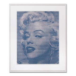 """Kim Dong-Yoo: """"Marilyn"""" Für das Original-Gemälde zu dieser Grafik wurden 1.369 Kennedy-Portraits einzeln mit Ölfarbe auf Leinwand gemalt."""