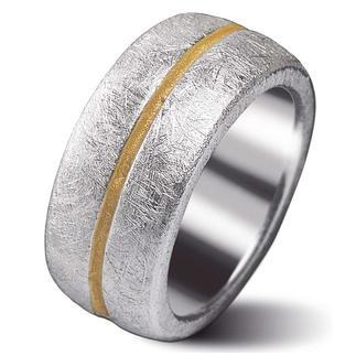 Goldstaub-Ring Elegant und besonders kombinierfreudig: die Bicolor-Komposition aus 925er-Sterling-Silber und 999er-Feingold.