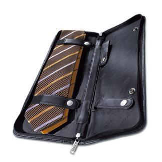 Krawattenetui In feinstem Rindnappa reisen Ihre Krawatten stilvoll und sicher.
