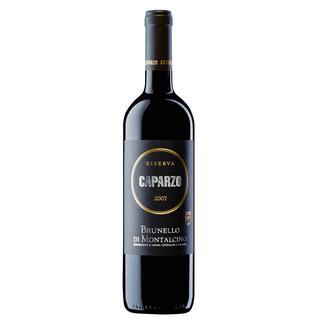 """Brunello Caparzo Riserva 2007, Brunello DOCG, Toskana, Italien """"Unwiderstehlich (…) Ausgeprägt (…). 96 Punkte."""" (Wine Spectator vom 31.05.2013)"""
