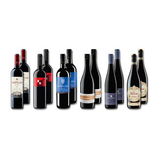 """Probierpaket """"Rotweine bis 7 € Sommer 2016"""", 12 Flaschen Probierpaket Rotweine, 12 Flaschen"""