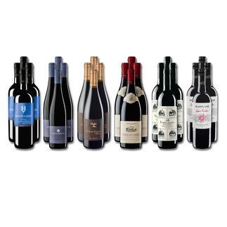 """Weinsammlung """"Die kleine Rotwein-Sammlung Sommer 2016"""", 24 Flaschen Wenn Sie einen kleinen, gut gewählten Weinvorrat anlegen möchten, ist dies jetzt besonders leicht."""