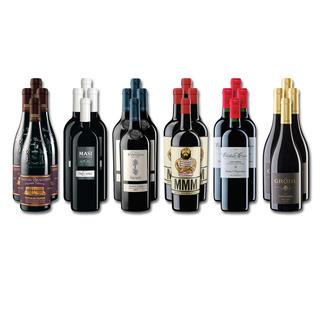 """Weinsammlung """"Die kleine Rotwein-Sammlung für anspruchsvolle Genießer Sommer 2016"""", 24 Flaschen Wenn Sie einen kleinen, gut gewählten Weinvorrat anlegen möchten, ist dies jetzt besonders leicht."""