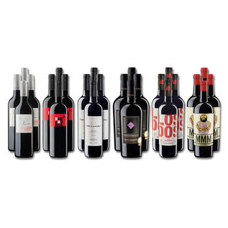 """Weinsammlung """"Die kleine Rotwein-Sammlung Frühjahr 2017"""", 24 Flaschen Wenn Sie einen kleinen, gut gewählten Weinvorrat anlegen möchten, ist dies jetzt besonders leicht."""