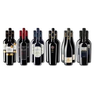 """Weinsammlung """"Die kleine Rotwein-Sammlung für anspruchsvolle Genießer Frühjahr 2017"""", 24 Flaschen Wenn Sie einen kleinen, gut gewählten Weinvorrat anlegen möchten, ist dies jetzt besonders leicht."""
