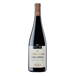 Héritages Rouge 2015, Ogier, Côtes du Rhône AOC, Frankreich In Frankreich bereits mehrfach ausgezeichnet. International (noch) unbekannt. (Und daher angenehm günstig.)