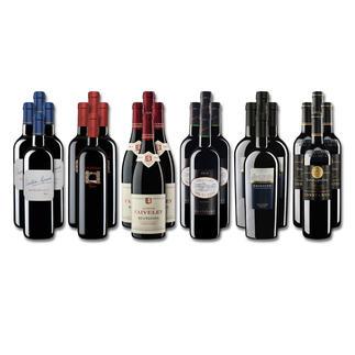 """Weinsammlung """"Die kleine Rotwein-Sammlung für anspruchsvolle Genießer Winter 2017"""", 24 Flaschen Wenn Sie einen kleinen, gut gewählten Weinvorrat anlegen möchten, ist dies jetzt besonders leicht."""