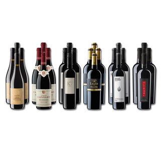 """Weinsammlung """"Die kleine Rotwein-Sammlung für anspruchsvolle Genießer Frühjahr 2020"""", 24 Flaschen Wenn Sie einen kleinen, gut gewählten Weinvorrat anlegen möchten, ist dies jetzt besonders leicht."""