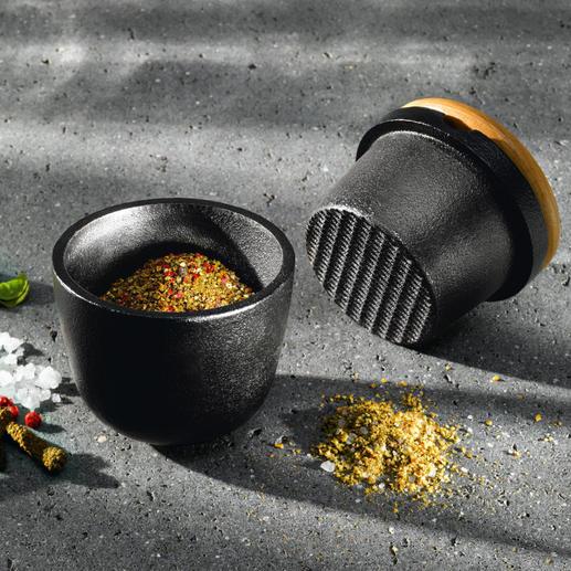 Skeppshult Gusseisen-Mörser - Massives Gusseisen zerkleinert Gewürze und Kräuter viel leichter und präziser.