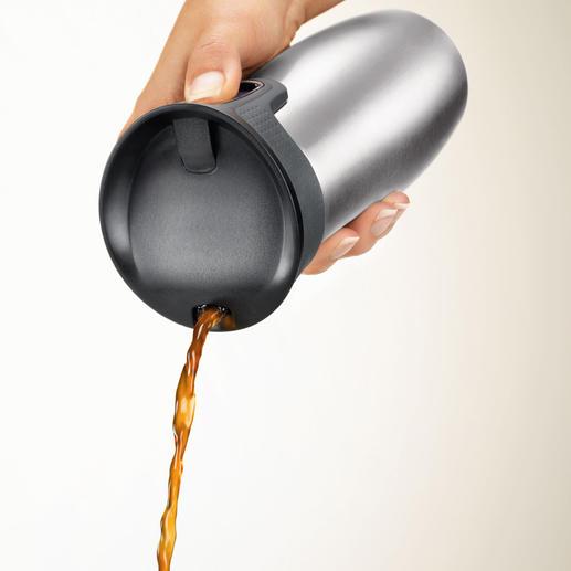 Bequem mit einer Hand zu bedienen – das patentierte Verschlusssystem.