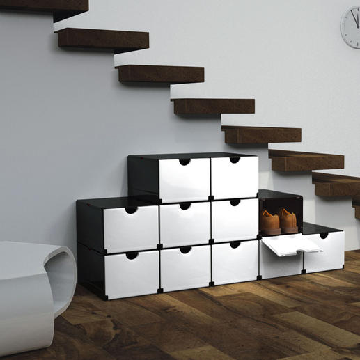 Geniale Faltboxen Mit wenigen Handgriffen: Schuh- oder Vorratsschrank, Schreibtisch-Container, Badregal, ...