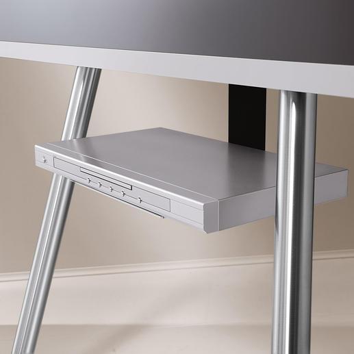 Die Kabel Ihres Receivers oder DVD-Players führen sie einfach durch die senkrechte Säule des Boards (separat erhältlich).