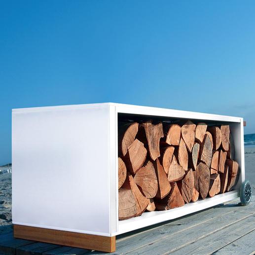 Die klare Form und die hochwertigen Materialien machen dieses Design-Highlight zum attraktiven Blickfang – drinnen und draußen.