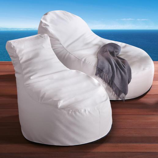 Ihr eleganter Sessel ist ideal zum Lesen und Chillen, der komfortable Liegesessel perfekt zum Relaxen.