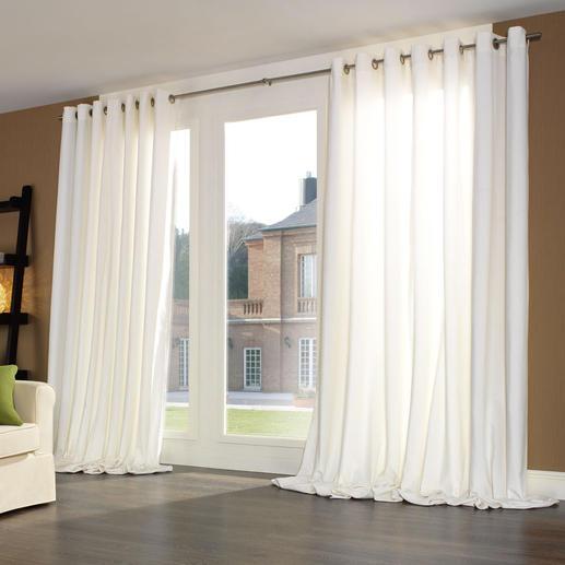 Vorhang Silent, Weiß - je 1 Stück Samtweiches Spezialgewebe dämpft störenden Schall, verbessert die Raumakustik – und Ihr Wohlbefinden.