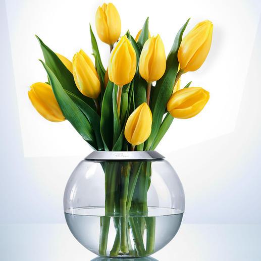 Im Passring mit 7,5 cm Ø Öffnung entfalten sich auch üppige Sträuße aus Frühlingstulpen, Wiesenblumen, Christrosen, … rundum perfekt.