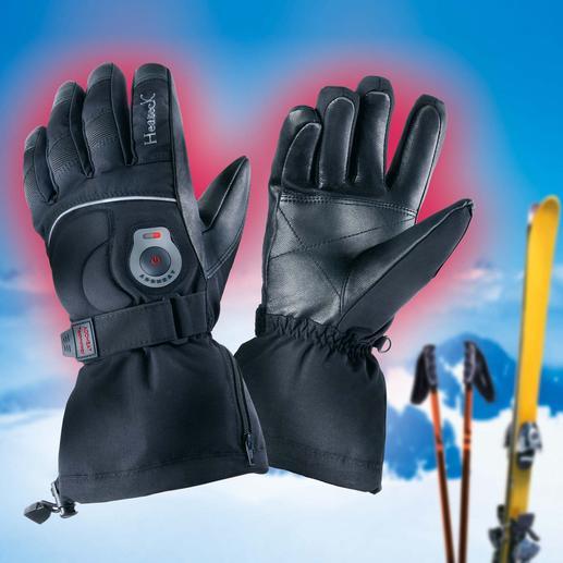Infrarot beheizte Handschuhe - Auf Tastendruck regulierbare Infrarotwärme – ohne Ausziehen.