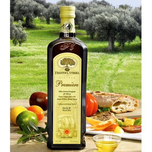 """Olivenöl """"Primo D.O.P Monti Iblei"""", 750 ml Eines der besten extra nativen Olivenöle der Welt. Sieger beim FEINSCHMECKER-Test 2011."""