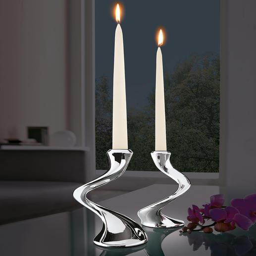 """Kerzenleuchter """"Windrush"""" Fantastisch wandelbar. Passt auf jeden Tisch: Solist, Duo, Trio – und mehrarmiger Leuchter."""