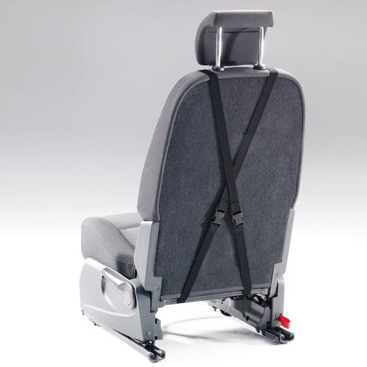 Mit den längenverstellbaren Elastikbändern passen Sie das Polster jedem Fahrzeugsitz an.