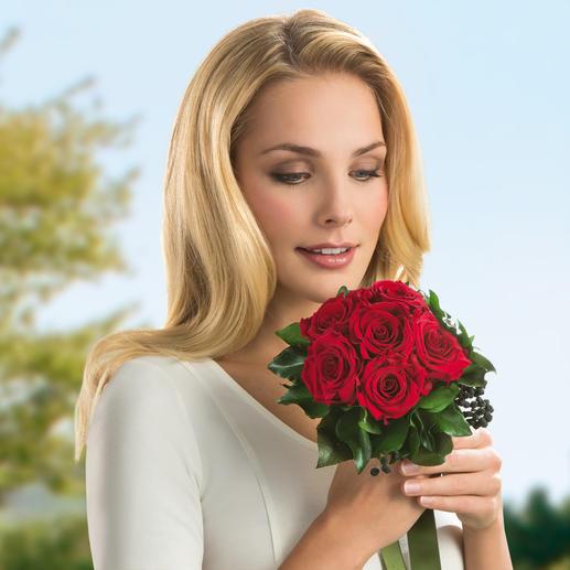 Das 6-Rosen-Bouquet ist auch als Blumenstrauß zum Valentins- oder Muttertag, Geburtstag, Hochzeitstag, … ideal.
