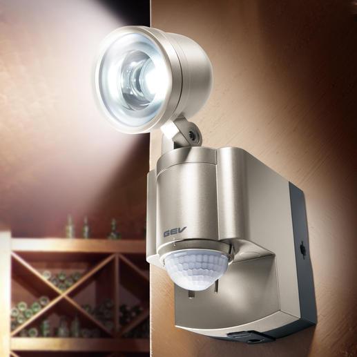 Batterie-LED-Strahler - Erleuchtet dunkle Ecken ohne Stromanschluss. Und ohne Lichtschalter – einfach per Bewegungssensor.