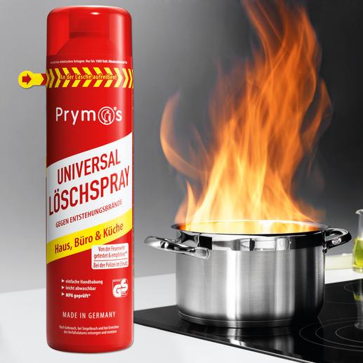 Prymos Löschspray - Die neue Generation Feuerlöscher. Schneller, einfacher, sicherer: Löschschaum aus der Spraydose.