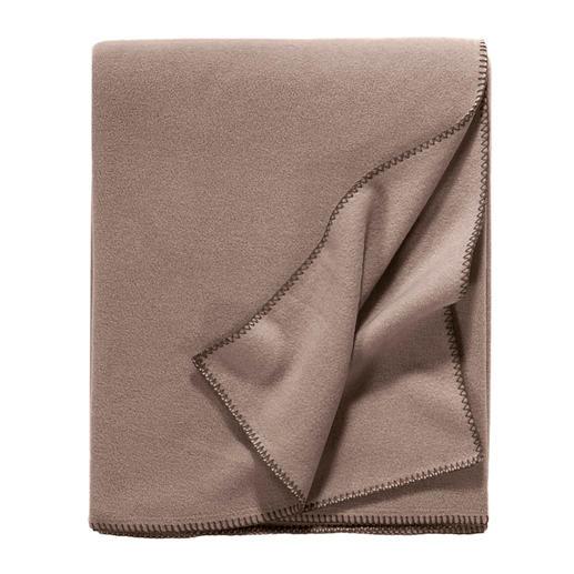 Edel-Fleece-Decke uni