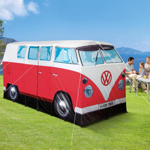 Camping VW Bulli - Viel bestaunt auf jedem Campingplatz: der legendäre T1 von 1965 - als original Bulli-Zelt.