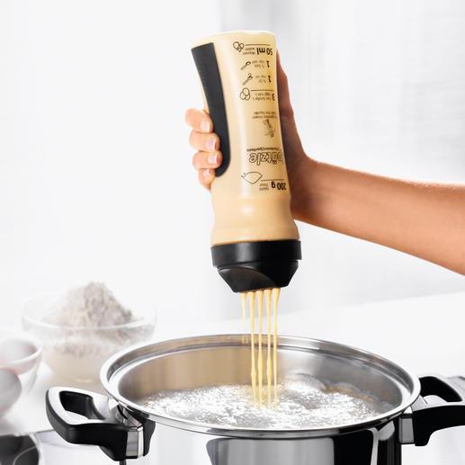 Gefu Teig-Shaker Spätzle, Waffeln, Pfannkuchen, … einfach und schnell wie nie. Ohne aufwändiges Schaben, Hobeln, Pressen.