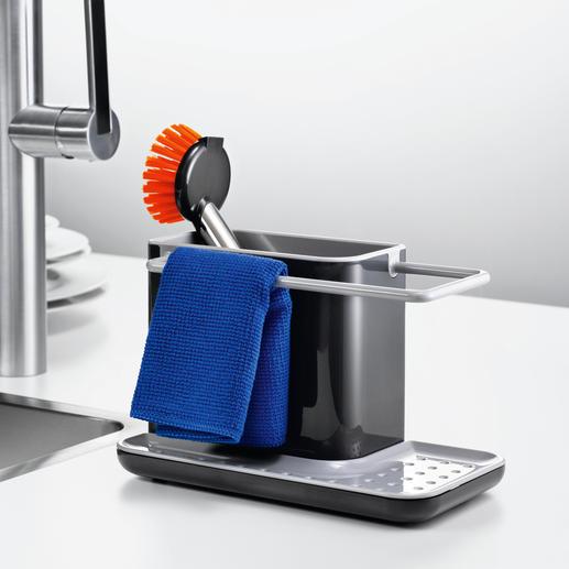 Spülbecken-Organizer - Hygienisch. Trocken. Griffbereit. Der stilvolle Platz für Spültuch, Schwamm und Bürste.