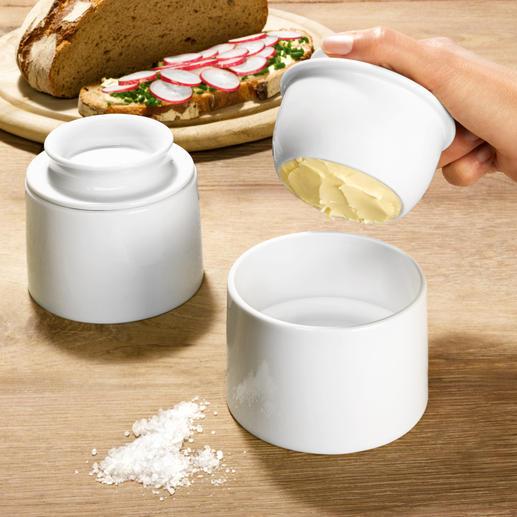Wasserbutterdose Hält Butter appetitlich frisch. Auch bei Zimmertemperatur. Kein Vergleich zu einfachen Butterdosen.