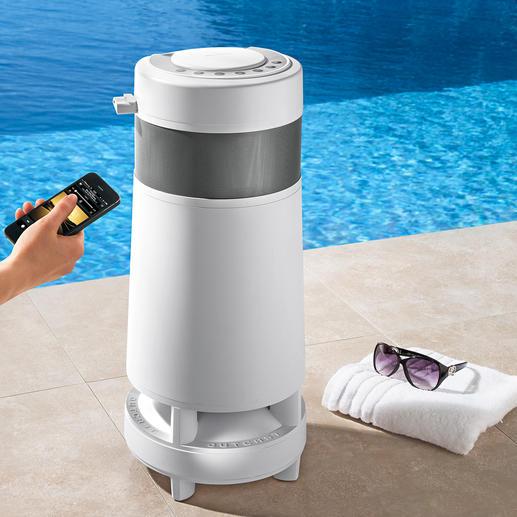 OutCast® 360°-Funklautsprecher - 360°-Spitzensound. Bis zu 8 Stunden nonstop. Ohne Stromanschluss. Drinnen und draußen.