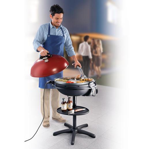 XXL-Barbecue-Elektrogrill - Gigantische 2.248 cm² Grillfläche. Enorme 2.200 W stark. Mit haftfreier Keramik-Beschichtung.