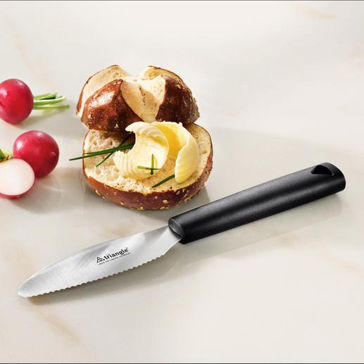 triangle® Frühstücksmesser - Perfekt zum Schneiden und Streichen. Aus gehärtetem rostfreiem Edelstahl mit breiter Klinge.