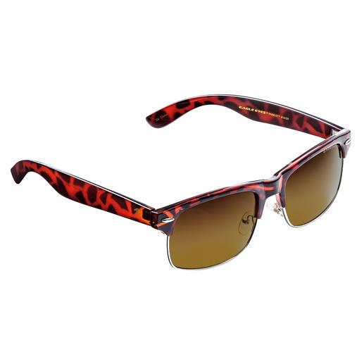 EAGLE EYES® Retro-Sonnenbrille - Dank NASA-Technologie: 100 % UV-Schutz … dennoch kontrastreichere Sicht und enorme Detailschärfe.