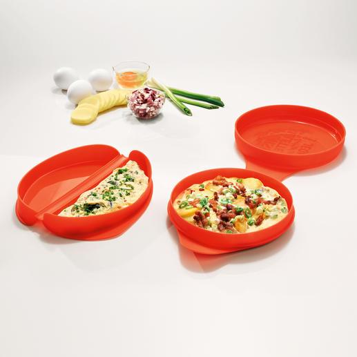 Mikrowellen-Omelett- oder Tortillaform - Einfach und schnell wie nie. In 2 Minuten fertig. Ohne Herd und Pfanne.