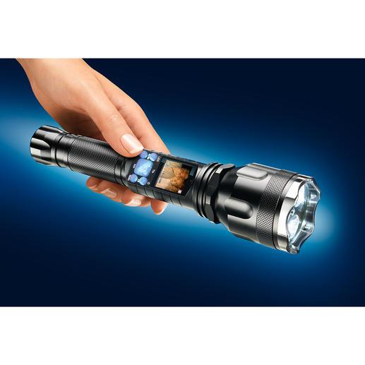 Night Vision Video-Taschenlampe - Mit Infrarot-Modus zum Filmen und Fotografieren selbst bei völliger Finsternis.