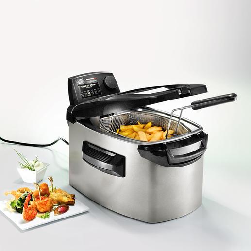 Turbo-Fritteuse Frytastic® Schneller, fettärmer: die Turbo-Fritteuse mit 2 Heizebenen.