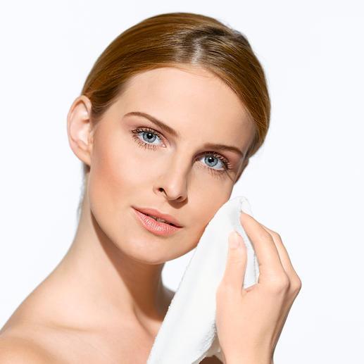 """""""Micro Peeling""""-Gesichtstuch, 2er-Set oder """"Micro Peeling""""-Rückentuch - Feinste Mikrofaser glättet und reinigt Ihre Haut porentief."""