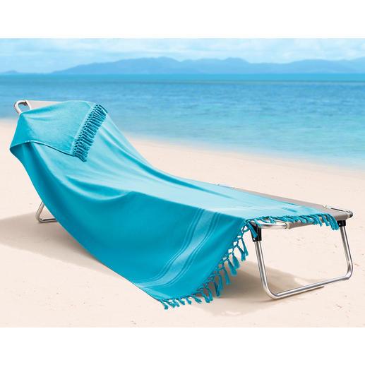 Dicht gewebter Schutz vor Sandkörnern und Schmutz.