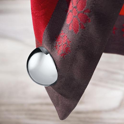 """Tischtuchmagnete """"Kugel"""", 4er-Set - Endlich stilvolle Tischtuch-Gewichte. Hochglanzpolierte Magnete statt häufig nur Plastik."""