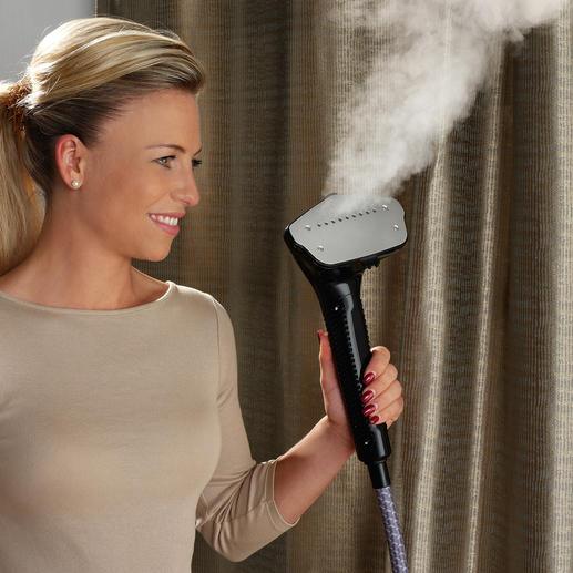 5-mal schneller und viel schonender als Bügeln: Glätten Sie Ihre Kleidung einfach mit trocken-heißem Wasserdampf.