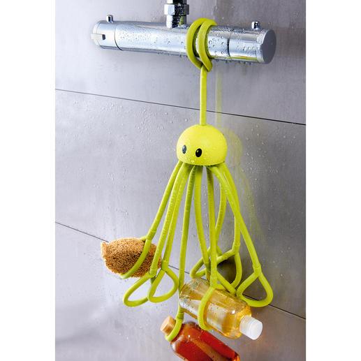 Duschkrake - Genialer Ersatz für fehlende Ablagen in der Dusche. 9 Tentakel halten Duschgel, Shampoo, Schwamm, Rasierer, ...