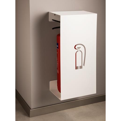Design-Feuerlöscherhalter - Edles Design hält den Brandbekämpfer schick verdeckt – jederzeit einsatzbereit.